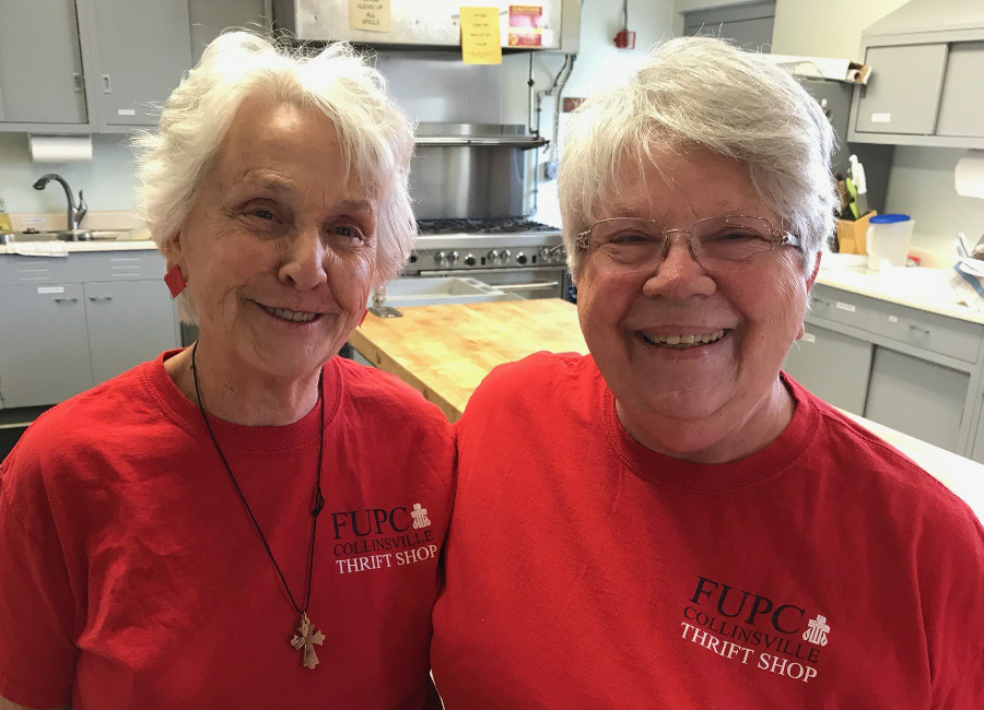 Volunteers at the First United Presbyterian Church Thrift Shop